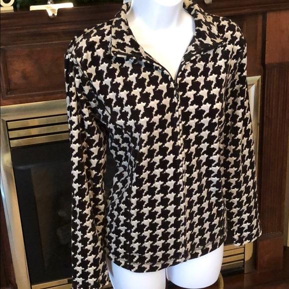 03fcfe5f4d1 Kim Rogers Jackets & Coats | Cute Black White Houndstooth Jacket ...